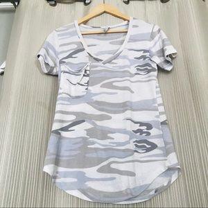 Camouflage t shirt white grey camo